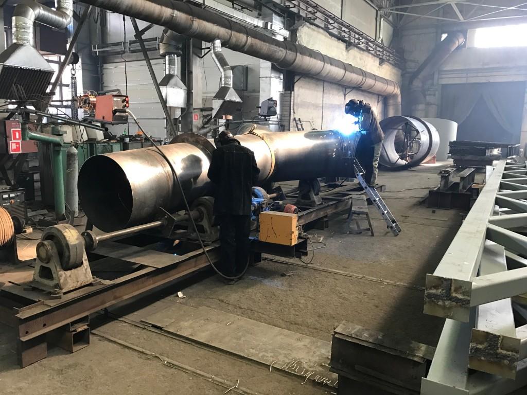 Сварка воздуховодов диаметром 800 мм