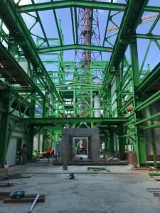 16 Монтаж металлоконструкций здания компрессии