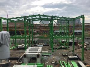 17 Монтаж металлоконструкций здания компрессии