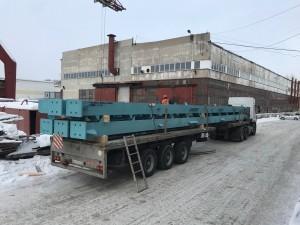 Отгрузка 17-метровых колонн на Тайшетский Алюминиевый Завод
