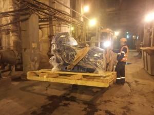 Подвозка оборудования к месту монтажа