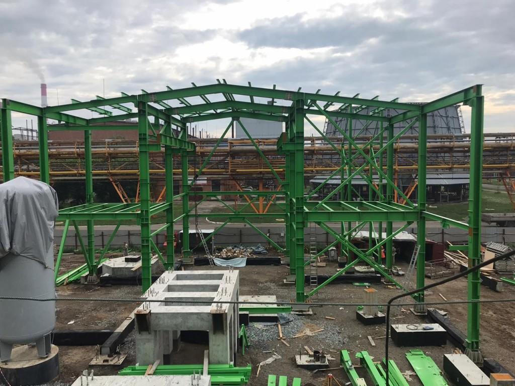 7 Монтаж металлоконструкций здания компрессии